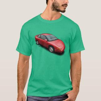 Camiseta Carro vermelho de Saturn SC2 no t-shirt verde