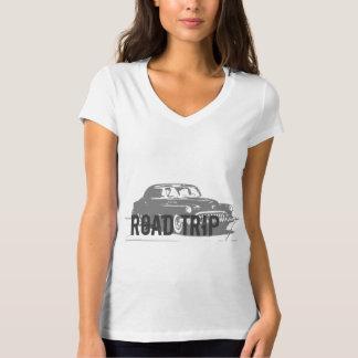 Camiseta Carro vintage da viagem por estrada