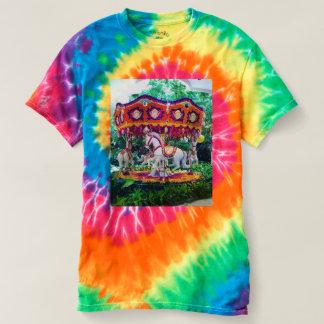 Camiseta Carrossel do jardim da tintura do laço