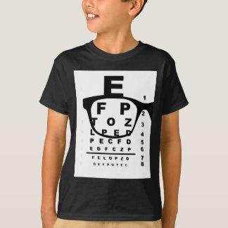 Camiseta Carta de teste do olho de Blurr