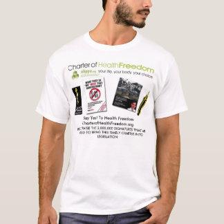 Camiseta Carta patente da liberdade da saúde
