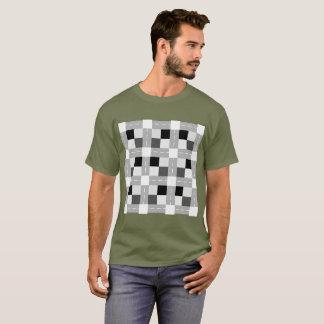 Camiseta Carta/t-shirt escuro básico dos homens