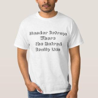 Camiseta Cartão contrário da difamação/racismo/fobia