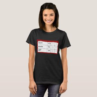 Camiseta Cartão da contagem - mínimo