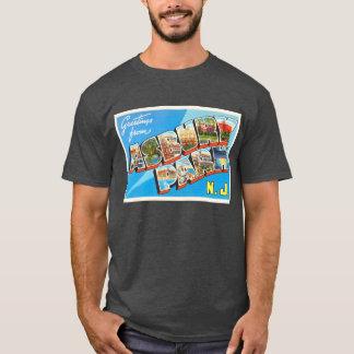 Camiseta Cartão das viagens vintage de New-jersey NJ do