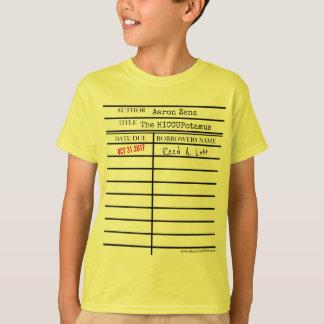 """Camiseta """"Cartão de biblioteca do HICCUPatamus"""" -"""