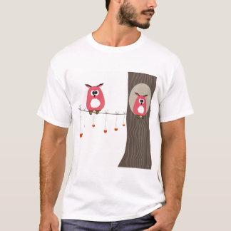 Camiseta Cartão dos namorados com pares das corujas