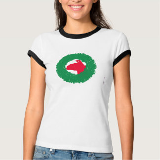 Camiseta Cartão e mais de Natal da grinalda & do lama do