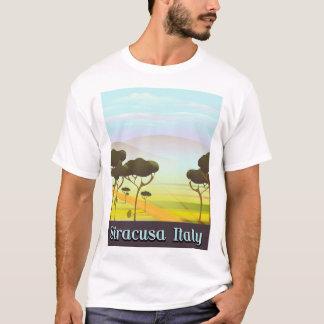Camiseta Cartaz do viagem da paisagem de Siracusa Italia