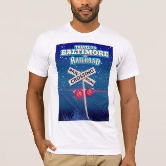 Camiseta Cartaz do viagem do cruzamento de estrada de ferro