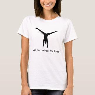Camiseta Cartwheel para a comida