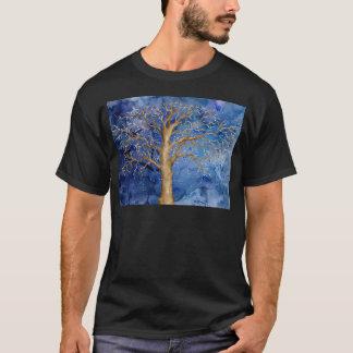 Camiseta Carvalho do inverno da aguarela