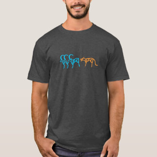 Camiseta Carvings da rocha dos animais Siberian