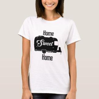 Camiseta Casa doce Home - reboque do vintage do campista do
