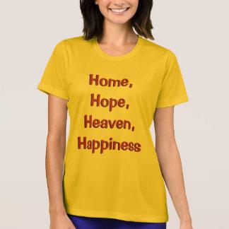 Camiseta Casa, esperança, céu, t-shirt da felicidade