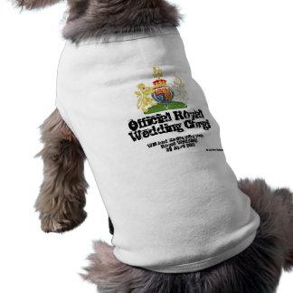 Camiseta Casaco real do Corgi do casamento - cão da estrela