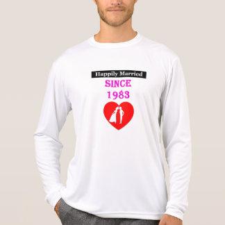 Camiseta Casado feliz desde 1983