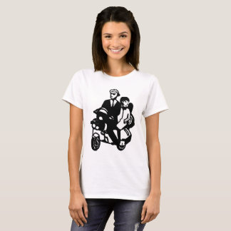 Camiseta Casal de Scootering do patinete de Ska
