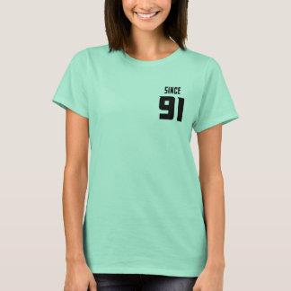 Camiseta Casal limpo da hortelã desde 91 - presente para o