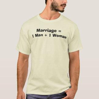Camiseta Casamento =, 1 mulher   do homem 1
