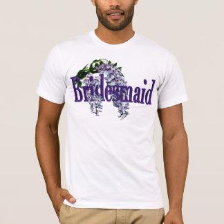 Camiseta Casamento das glicínias da dama de honra