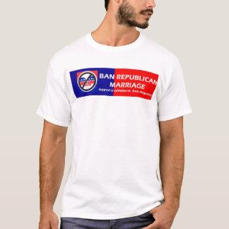 Camiseta Casamento do republicano da proibição