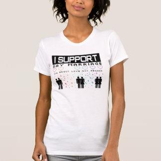 Camiseta casamento gay do apoio
