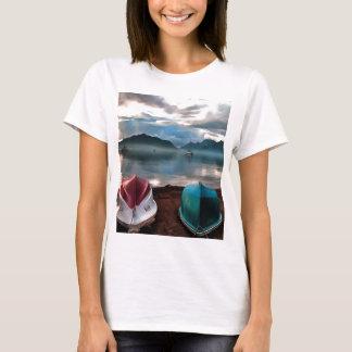 Camiseta Cascas do Seascape do inverno de Marmaris dos