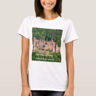 Camiseta Castelo Francoforte de Neuschwanstein & citações