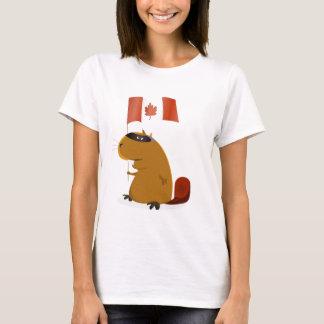 Camiseta Castor do dia de Canadá