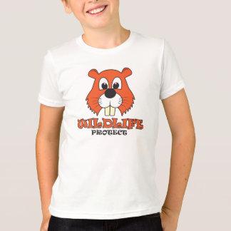 Camiseta Castor - os animais selvagens protegem