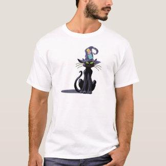 Camiseta CAT PRETO & CHAPÉU por SHARON SHARPE