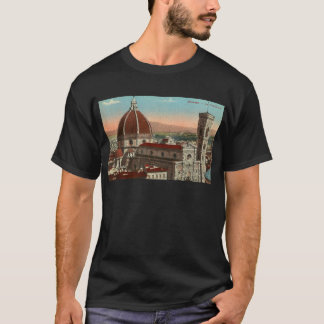 Camiseta Catedral retro de Florença Italia Italia da arte