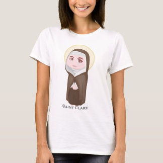Camiseta Católico bonito de Clare do santo