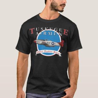 Camiseta Cauda do vermelho do aviador P-51D de Tuskegee
