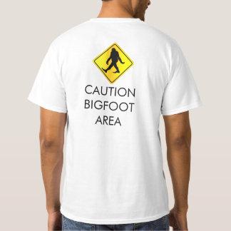Camiseta Caution Bigfoot Area