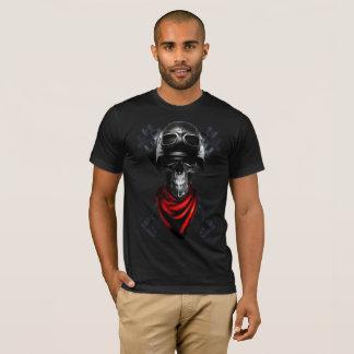 Camiseta cavaleiro da bicicleta do crânio