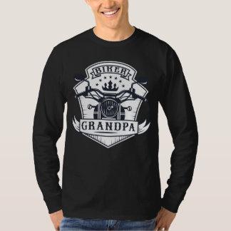 Camiseta Cavaleiro da motocicleta do crachá do vovô do