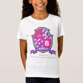 Camiseta Cavaleiro da princesa do aniversário do