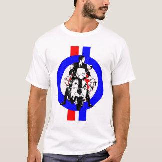 Camiseta Cavaleiro do patinete dos anos sessenta no alvo e