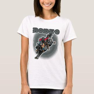 Camiseta Cavaleiro em pêlo do Bronc do rodeio
