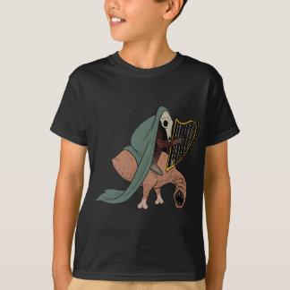 Camiseta Cavaleiro escuro que joga a harpa