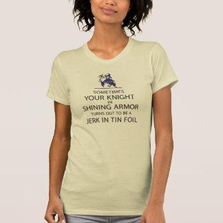 Camiseta Cavaleiro na armadura de brilho