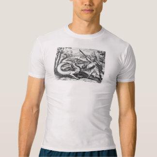 Camiseta Cavaleiro na armadura que massacra o dragão