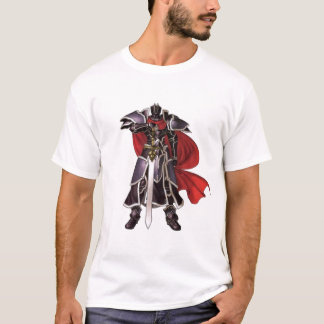 Camiseta Cavaleiro preto medieval com t-shirt da espada