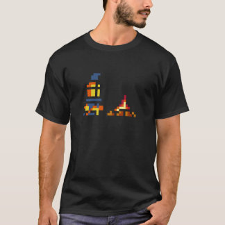 Camiseta Cavaleiro retro do pixel
