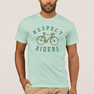 Camiseta cavaleiros da bicicleta do respeito