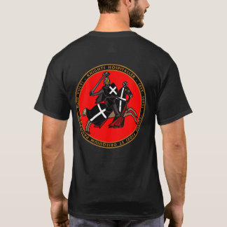 Camiseta Cavaleiros Hospitaller que carrega no selo Shir da