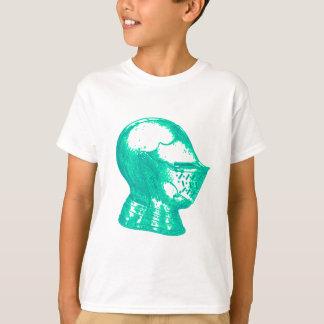 Camiseta Cavaleiros medievais do capacete da armadura do