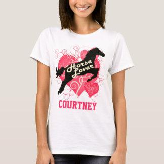 Camiseta Cavalo Courtney personalizado amante